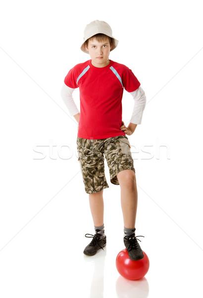 Erkek top on yıl ayakta Stok fotoğraf © sapegina