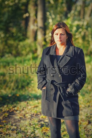 Woman outdoors Stock photo © sapegina