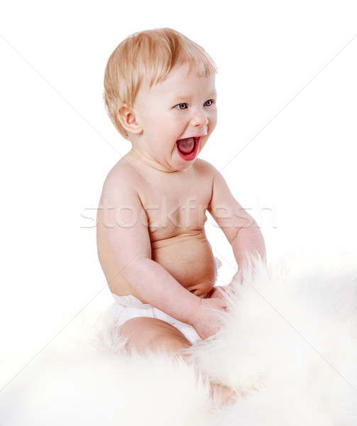 Baby Boy laugh Stock photo © sapegina