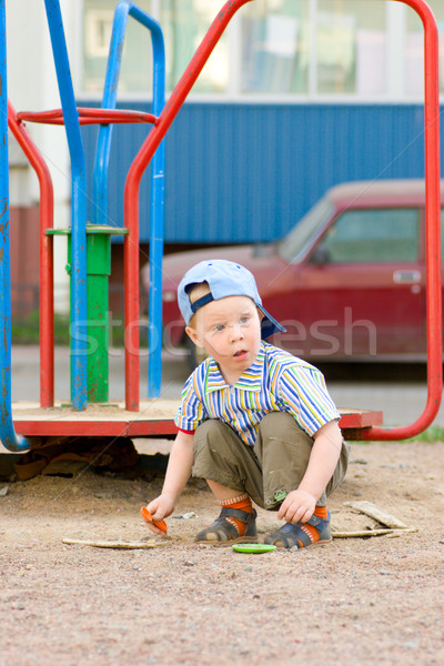 Boy on playground Stock photo © sapegina