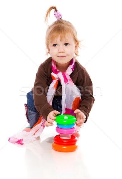 Girl playing Stock photo © sapegina