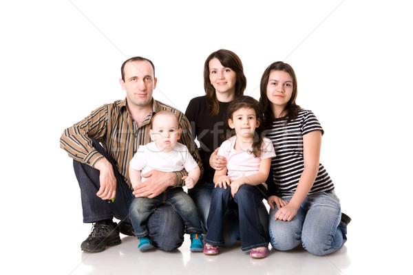 幸せな家族 3  子供 一緒に 孤立した 白 ストックフォト © sapegina
