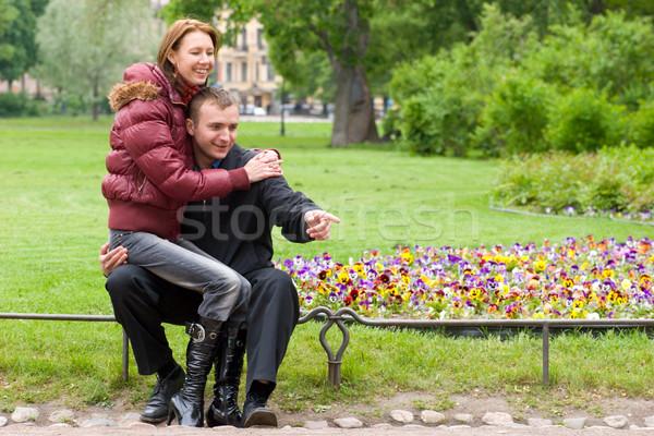 young couple Stock photo © sapegina
