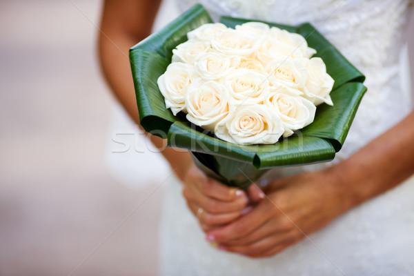 Noivas buquê noiva rosas Foto stock © sapegina