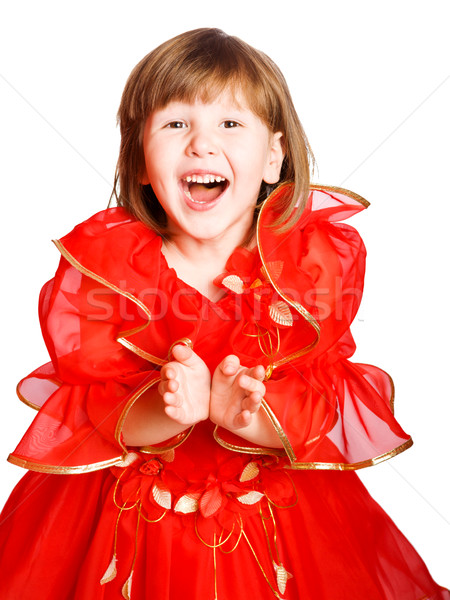 laughing girl clapping hands Stock photo © sapegina