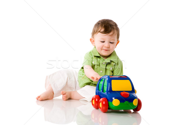 赤ちゃん 少年 演奏 カラフル 車 おもちゃ ストックフォト © sapegina