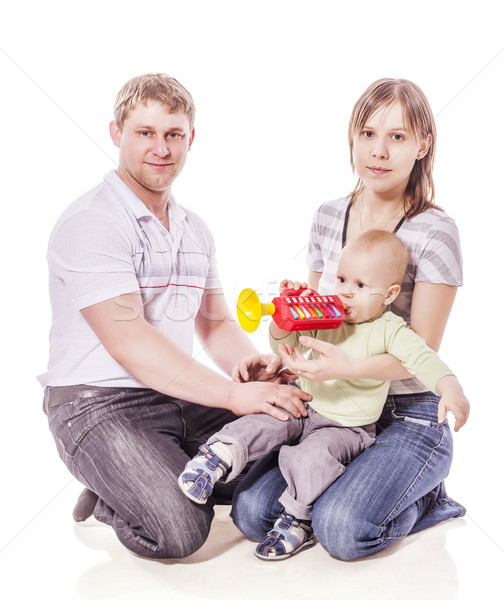 Anne baba bebek mutlu aile birlikte Stok fotoğraf © sapegina