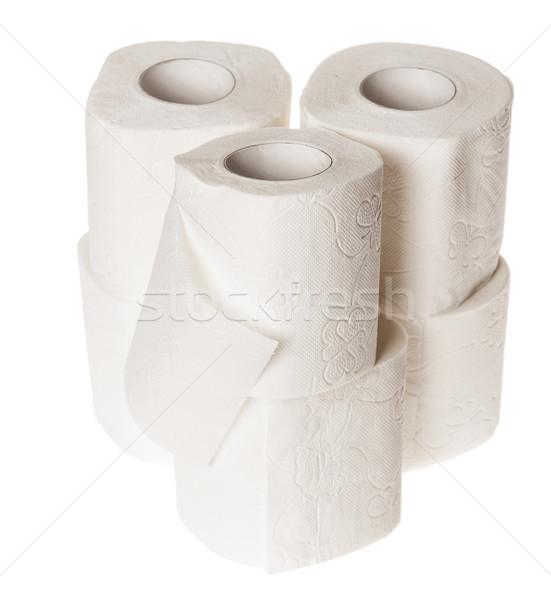 Carta igienica sei isolato bianco WC Foto d'archivio © sapegina