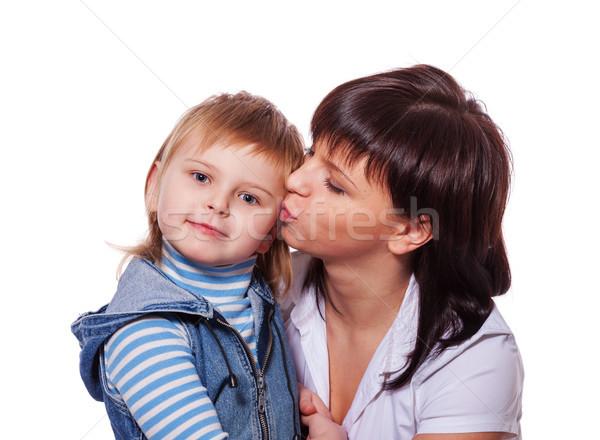 Família segredos filha risonho mãe Foto stock © sapegina