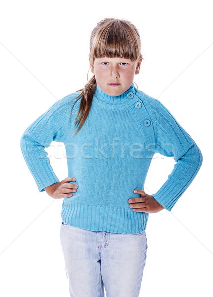 Upset cranky girl Stock photo © sapegina
