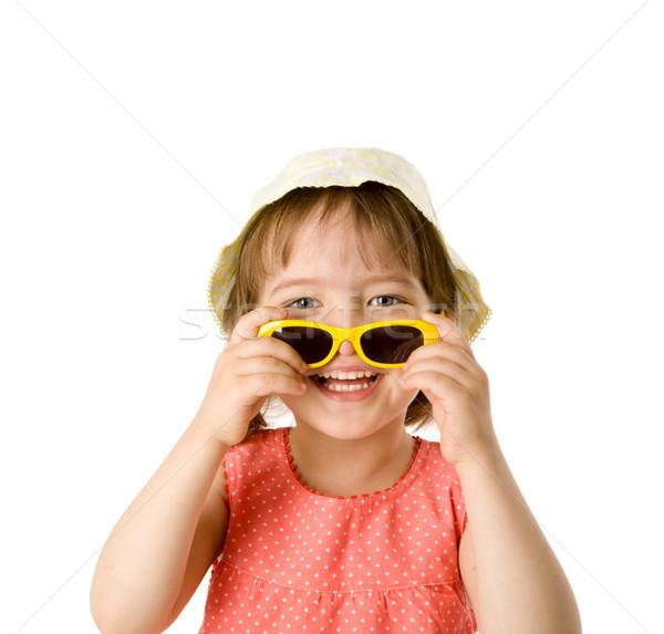 Fille lunettes de soleil petite fille Panama Photo stock © sapegina