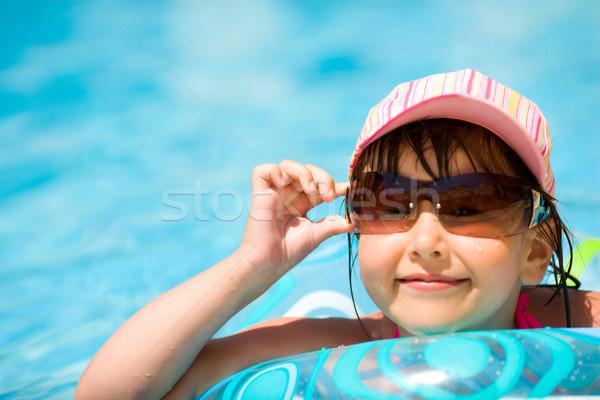 çocuk havuz güneş gözlüğü kapak gülme Stok fotoğraf © sapegina