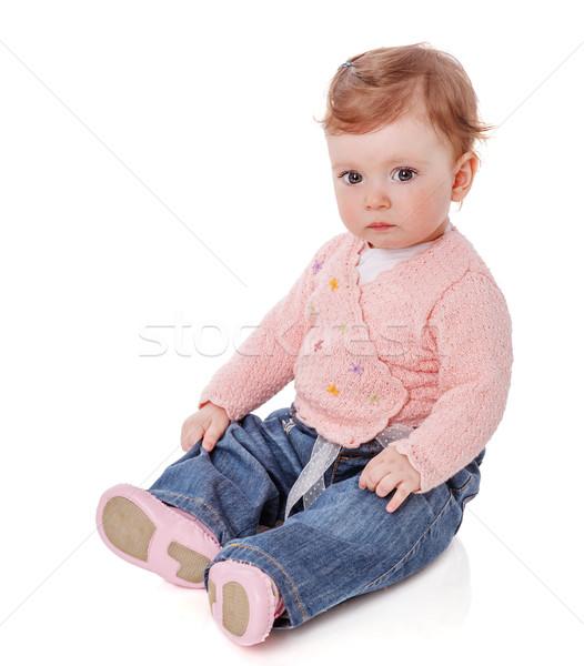 baby girl sitting Stock photo © sapegina