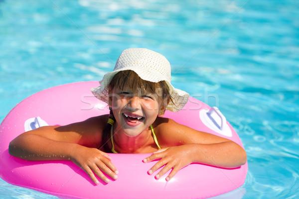 女の子 プール 幸せ 笑みを浮かべて 少女 ストックフォト © sapegina