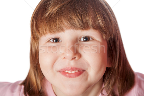 Very happy girl headshot Stock photo © sapegina