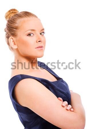 Iş kadını portre yalıtılmış beyaz çalışma başarı Stok fotoğraf © sapegina