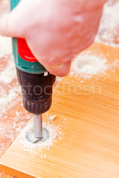 Stock photo: Drill with Forstner's cutter