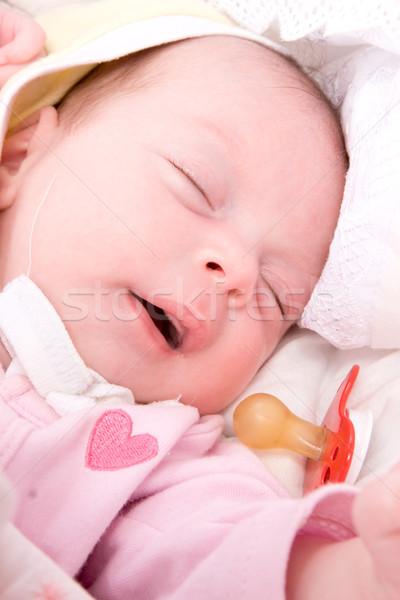 Sleeping babygirl Stock photo © sapegina