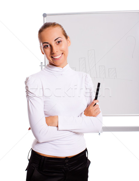 businesswoman making presentation Stock photo © sapegina