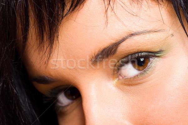 Ogen mooie bruine ogen jong meisje jonge Stockfoto © sapegina
