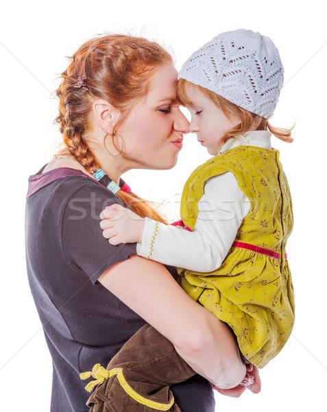 матери дочь Секреты разделение изолированный белый Сток-фото © sapegina
