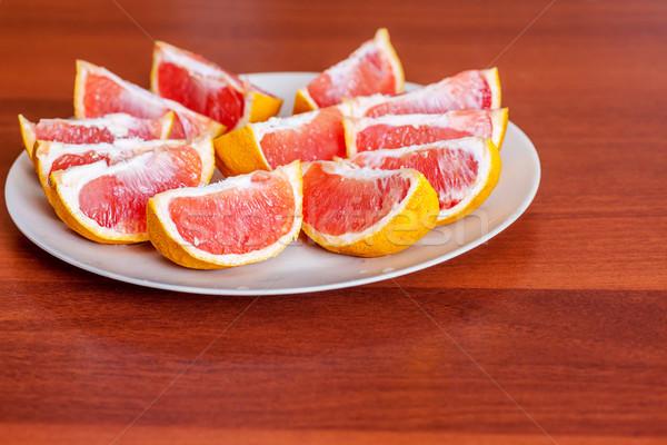2 スライス 食品 フルーツ 赤 ストックフォト © sapegina