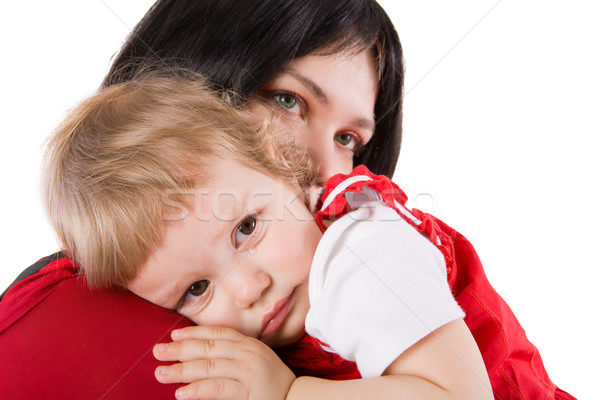 Mother holding crying baby Stock photo © sapegina