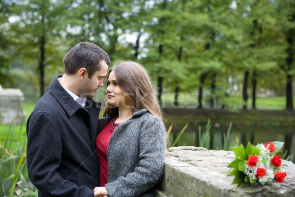 Genç aşıklar iki diğer park Stok fotoğraf © sapegina