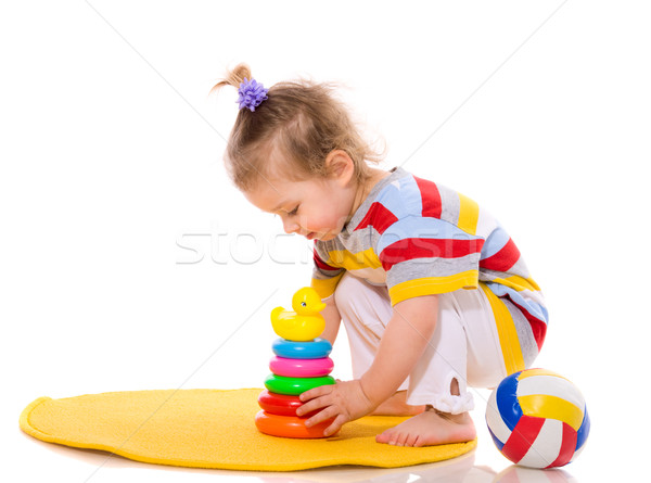 Stock photo: Toddler playing