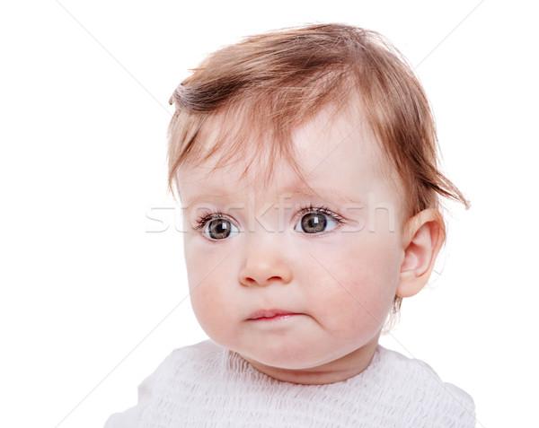 ストックフォト: 肖像 · 1 · 年 · 赤ちゃん · 孤立した