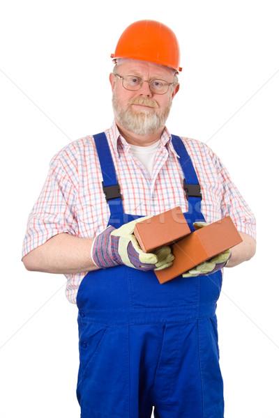 Bricklayer with hardhat Stock photo © Saphira