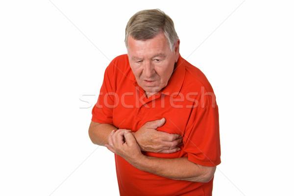 Szívroham idős férfi szívfájdalom személy idős beteg Stock fotó © Saphira
