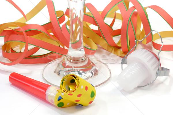 新しい 年 パーティ ガラス シャンパン コルク ストックフォト © Saphira