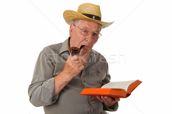 Old man reading Stock photo © Saphira