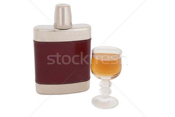 Quadril brandy garrafa álcool potável Foto stock © Saphira