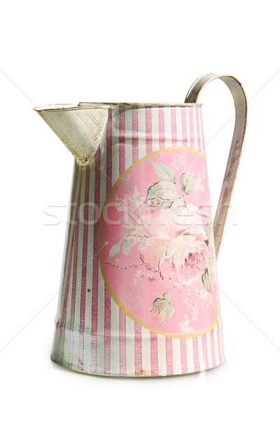 Velho rosa isolado branco antigo Foto stock © Saphira