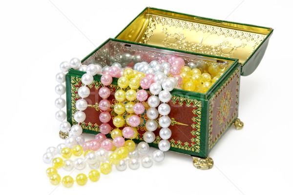 Gioiello finestra perla isolato bianco gioielli Foto d'archivio © Saphira