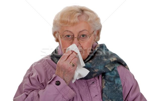 Virus infectie blazen neus witte koud Stockfoto © Saphira
