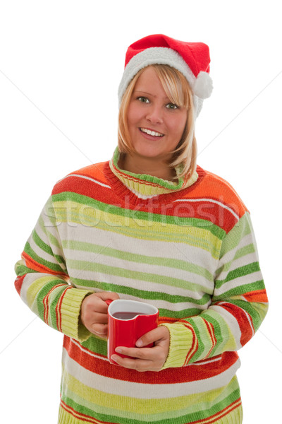 Femme jeune femme chapeau rouge Photo stock © Saphira