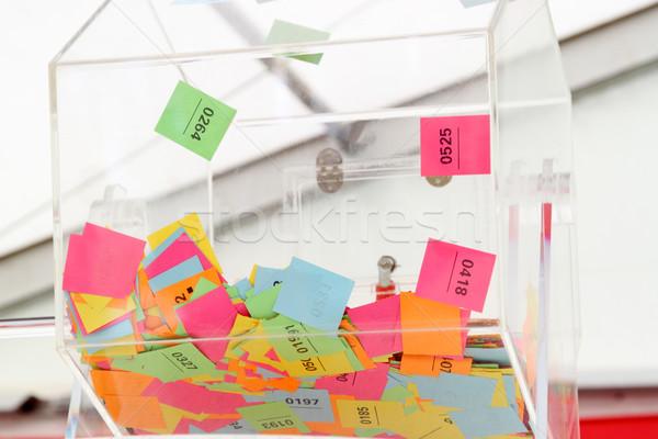 лотерея колесо многоцветный билеты бумаги Сток-фото © Saphira
