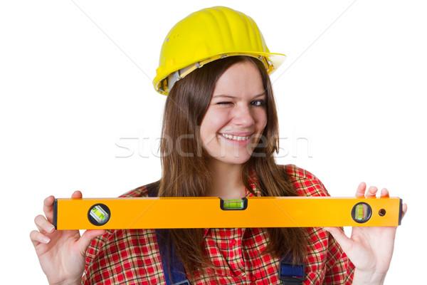 若い女性 女性 建設 作業 ツール ストックフォト © Saphira