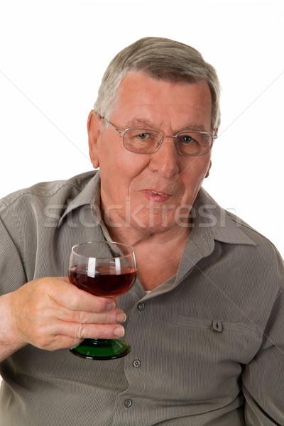 歳の男性 赤ワイン ワイン 男 健康 ストックフォト © Saphira