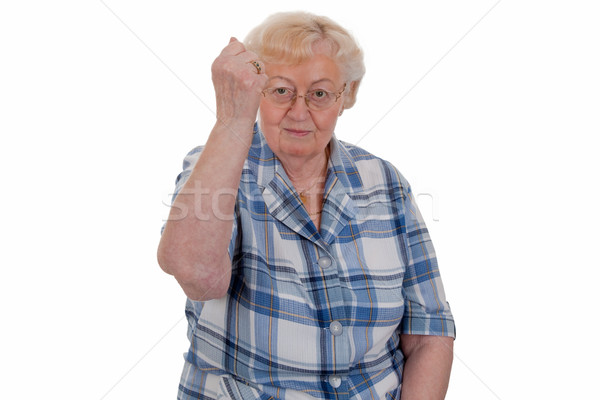Elderly woman threatening Stock photo © Saphira