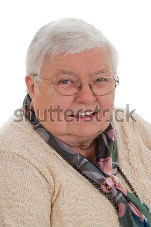 Senior woman with dollars - vertical format Stock photo © Saphira