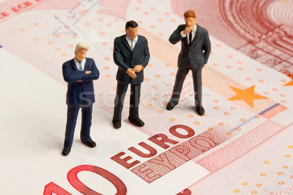 Finansal kriz üç oyuncak tren on euro Stok fotoğraf © Saphira