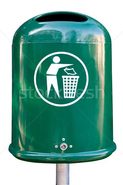 мусорный ящик пусто парка чистой мусора Сток-фото © Saphira