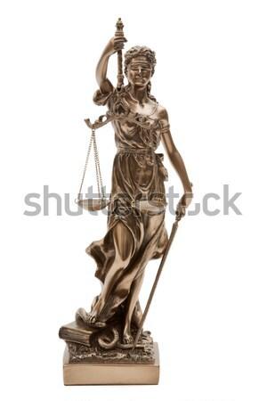 小さな像 孤立した 白 弁護士 裁判所 スケール ストックフォト © Saphira