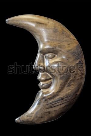 полумесяц лице изолированный белый металл ночь Сток-фото © Saphira