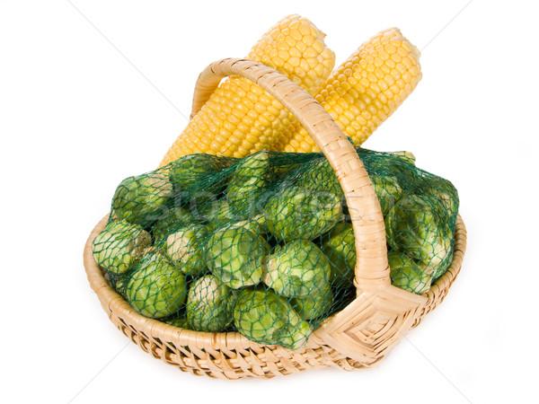 Légumes Bruxelles maïs agriculture saine nutrition Photo stock © Saphira