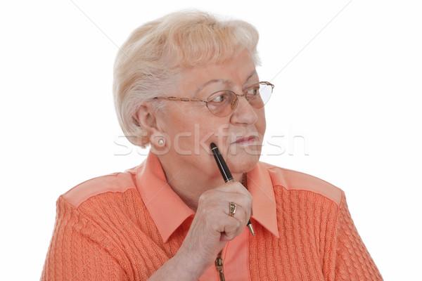 Sepolto pensiero matita anziani nonna Foto d'archivio © Saphira
